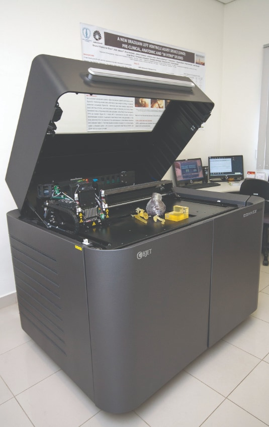 The Objet350 Connex 3D Printer's range of materials proved beneficial to the Dante Pazzanese Cardiology Institute.