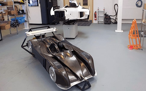 Le Mans car and Formula One chassis, 3D printed on a Fortus 400mc Production System