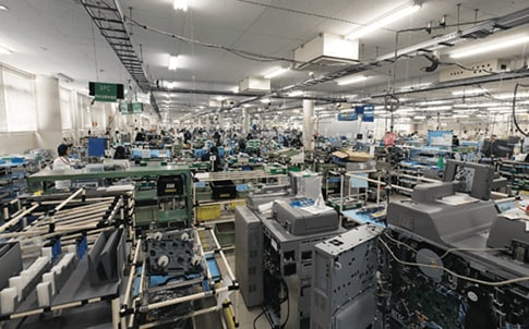 The Ricoh factory  floor.